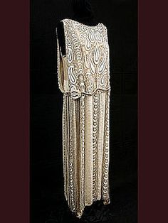 Gorgeous. Frances & Co., NY 1920. This will be the next dress portrayed in the 1920 painting for the 100 Years of Fashion by Wanda Pepin.