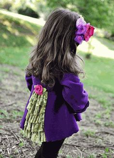 Mack & Co Fall 12 Purple Charlotte Bustle Girl's  Coat & Hat