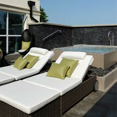 Roof terrace at the Bedford Lodge spa - Find this and more spa ideas at Red Online.