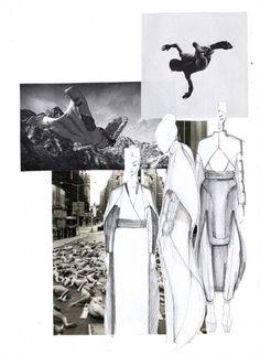 "Fashion Sketchbook - ""Falling"" collection development; fashion illustrations & inspirations; fashion portfolio // Mirjam Maeots"