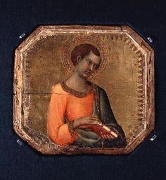 SIMONE MARTINI (1285–1344) -  A Saint Holding a Book.
