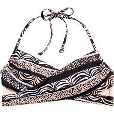 Bandeau Bikini Top $17.99 (160 SEK) ❤ liked on Polyvore featuring swimwear, bikinis, bikini tops, bandeau bikini tops, swim suit tops, print swimwear, bandeau tops and tankini tops