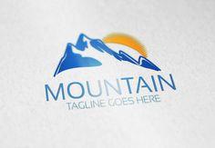 Mountain V4 Logo by Samedia Co. on Creative Market
