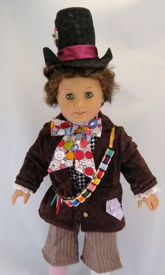 Doll Clothes Mad Hatter Costume Alice in by enchanteddesigner, $68.00