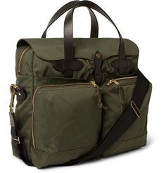 Filson72 Hour Leather-Trimmed Canvas Briefcase