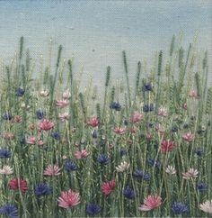 Cornflower Meadow 1. In Textiles