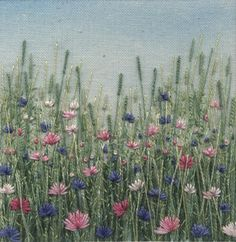Cornflower Meadow 1. In Textiles