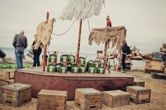 A fabulous Peter Pan birthday party on the beach by @JennyCookies