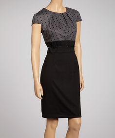 "Playful polka dots take this posh frock from staple to standout. With its pretty pleated collar and sleek belted waist, this desk-to-dinner dress flaunts fiercely feminine fashion while maintaining a polished look. Includes dress and beltMeasurements (size 8): 38"" long from high point of shoulder to hemTop: 95% polyester..."