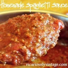 **Homemade Spaghetti Sauce.  Loved the spices in this one, I didn't use the sugar or pumpkin and it was delicious.  Definitely use these spices again.