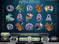 Spilleautomater Evolution Gratis - Evolution tar deg tilbake til begynnelsen av liv slik vi kjenner det, nærmere bestemt til den grønne og fruktbare jorden for mange millioner år siden. Spilleautomater Evolutionfor på http://www.spilleautomater-online.com/spill/spilleautomater-evolution-gratis