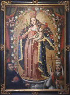 Nuestra Señora de Los Remedios 18th C Colonial Image, Colonial Art, Spanish Colonial, Religious Icons, Religious Art, Pintura Colonial, Verge, Images Of Mary, Queen Of Heaven