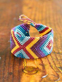 Vintage Multicolor Woven Friendship Bracelet at Free People Clothing Boutique