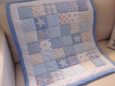 Shabby Chic Baby patchwork  cot quilt