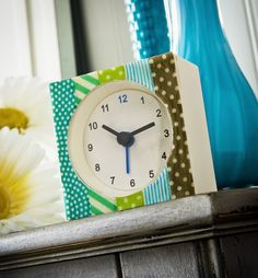 Makeover a $1 clock using washi tape - Washi Tape Crafts