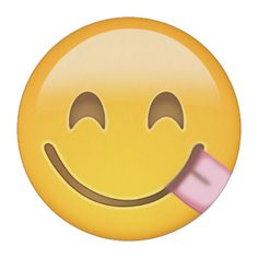 Face Savouring Delicious Food Emoji Edible Frosting Rounds