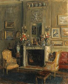 The Salon of Miss Elsie de Wolfe, New York, by Walter Gay 1900