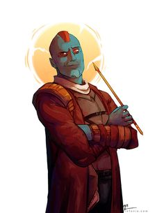 """eleganceliberty: """"He may look like an angel, but he sure as hell ain't one.… I really began to like Yondu after the 3rd-4th time I saw the movie, okay? Don't judge me. :( """""""