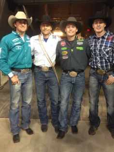 Stetson Vest, Stran Smith, Tuf Cooper and Clif Cooper...Just a little bit of Rodeo Royalty - just missing Trevor!