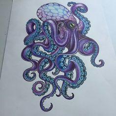 Octopus Tattoo - Bildideen - Octopus Tattoo - Garden Pot Design - DIY Bathroom - Hairstyle For School - Ideas DIY Jewelry Octopus Tattoo Sleeve, Octopus Tattoo Design, Tattoo Designs, Octopus Tattoos, Mermaid Tattoos, Animal Tattoos, Mehndi Designs, Kraken Tattoo, Tattoo Ideas