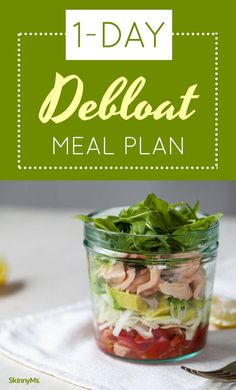 This meal plan is full of foods designed to help you debloat. | 1-Day DeBloat Meal Plan