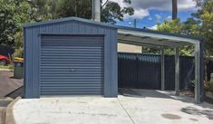 Single Car Garages Designed To Your Specific Requirements - ShedSafe® Accredited & Built From Quality Australian Steel. Call 1800 821 033 or Get a Quote Via Our Website. Car Garage, Garage Doors, Gable Roof, Garage Design, Garages, Custom Design, Outdoor Structures, Sheds, Building