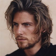 Long Wavy Haircuts, Mens Messy Hairstyles, New Long Hairstyles, Face Shape Hairstyles, Textured Hairstyles, Men's Haircuts, Men's Hairstyles, Medium Hairstyles For Men, Hairstyle Images