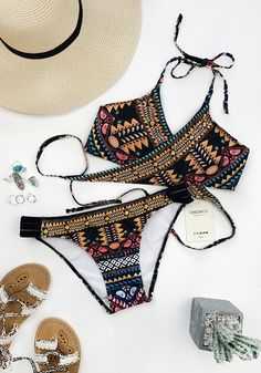 Let your swimsuit do the sexy-talking.Do not wander around.More cute pieces at chicnico.com !