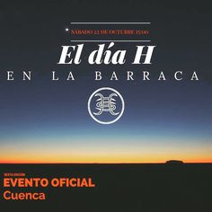 #EventoOficial> !!!QUE NO TE LO CUENTEN |!!!!. Un evento que se da en varios países de habla hispana y #Cuenca es uno de ellos. El día H este 22 de octubre desde las 15:00 en La Barraca.