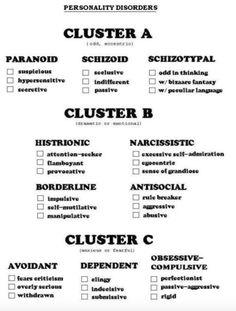 Cluster A, B, C Personality Disorders Instructional Tutorial Video CanadaQBank.com Video: http://youtu.be/PhjiPeCIwFk