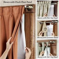 The Ultimate Thermalogic(TM) Blackout Curtain Panel Liner fits perfectly to all types of curtains! Versatile liner can be used with tab-top panels, pole-top panels, pinch-pleat panels, and grommet panels. Tab Top Curtains, Types Of Curtains, Cool Curtains, Thermal Curtains, Panel Curtains, Winter Curtains, Diy Blackout Curtains, Brown Curtains, Short Curtains