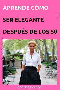 Cómo vestirte con estilo a partir de los 50 años Over 50 Womens Fashion, Fashion Over 40, Look Fashion, Fashion Outfits, Fashion Tips, Estilo Jeans, Spring Work Outfits, Fall Outfits, Carolina Herrera