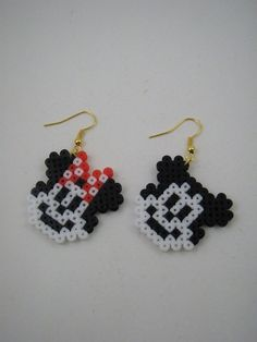 Handmade earrings / Hama beads / Perler beads / Mickey by Yarisada, $3.99