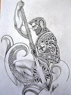 Polynesian Motifs and Models warrior raming