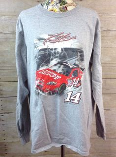 Tony Stewart 14 Office Depot Gray Men's Large Long Sleeve Chase Shirt NASCAR #Chase #StewartHaasRacing