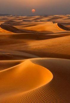 Sunset over the Sand Dunes in Dubai : Custom Wall Decals, Wall Decal Art, and Wall Decal Murals | WallMonkeys.com