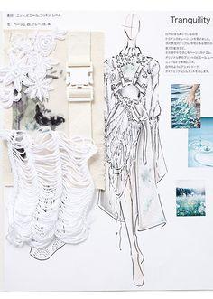 A Level Textiles: Beautiful Sketchbook Pages Mise En Page Portfolio Mode, Mode Portfolio Layout, Fashion Portfolio Layout, Fashion Design Sketchbook, Fashion Design Drawings, Drawing Fashion, Illustration Mode, Fashion Illustration Sketches, Fashion Sketches