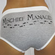Mischief Managed Underwear size LARGE by NerdsWithVaginas on Etsy, $15.00