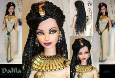 dalila egyptian princess barbie repaint