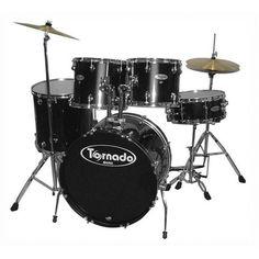 Mapex Drum Set Tornado 5 Pcs w/Hardware Throne & Cymbals TNM5254TCUDK - Black