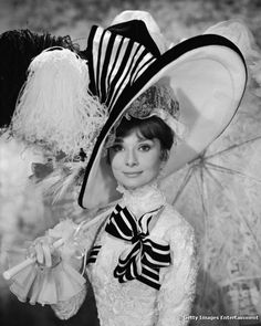 Audrey Hepburn - Black and white races dress - My Fair Lady - If only.