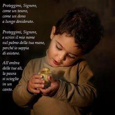 PREGHIERA Peaceful Words, Feelings Words, Catholic Prayers, Good Vibes, Madonna, Life Is Good, Nostalgia, Blessed, God