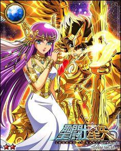 Athena & Seiya Galaxy Cards version Saint Seiya Legend of Sanctuary