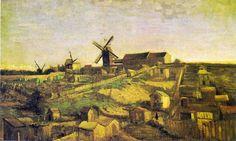 Vue de Montmartre avec moulins 1886 Vincent Van Gogh