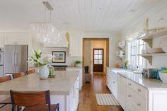 White, bright and light family kitchen.