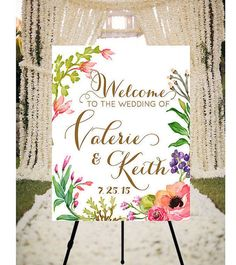 Wedding Welcome Sign Peaches & Cream  printable welcome by Dantell