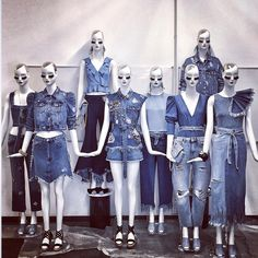 "ZARA, Milan, Italy, ""Get the Denim Look"", creative by Marco Pulcinelli, Aloof mannequins by Bonaveri Italy, pinned by Ton van der Veer"