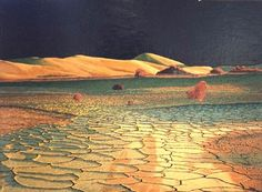 DJ Hershman  Death Valley   Oil on Board  H 18in x W 24in