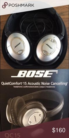 Bose QC 15 quiet comfort 15 Acoustic Noise Cancelling headphones. These headphones are in excellent condition. Bose Accessories
