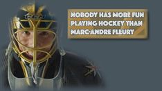 With a flash of a smile and his energetic passion on and off the ice, it's clear that nobody has more fun playing hockey than Marc-Andre Fleury Hockey Goalie, Hockey Players, Ice Hockey, Golden Knights Hockey, Vegas Golden Knights, Pittsburgh Sports, Pittsburgh Penguins, Marc Andre, Penguin Love